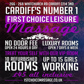 cardiff massage parlour up to 15 masseuses